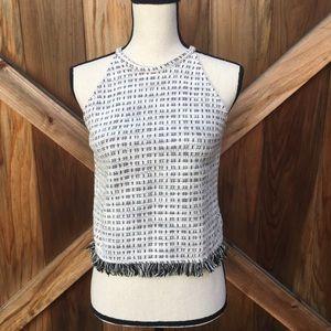 Zara Trafaluc Tweed Tank Top